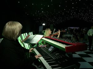 A ceili for a business event in a marquee