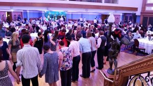 A ceili at the Titanic staircase